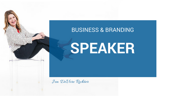 business and branding speaker jen devore richter