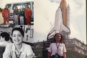 Jen DeVore Richter at Kennedy Space Center 1999
