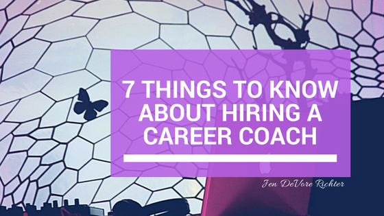 hiring a career coach