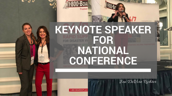 keynote speaker for national conference