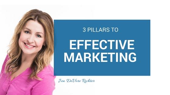 3 pillars to effective marketing