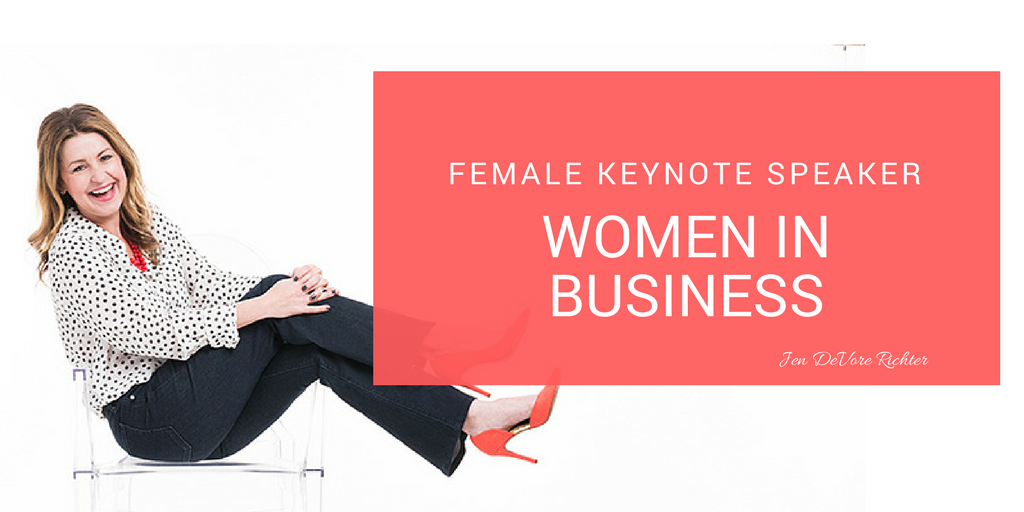 female business speaker Jen DeVore Richter