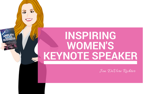 Inspiring women's keynote speaker Jen DeVore Richter