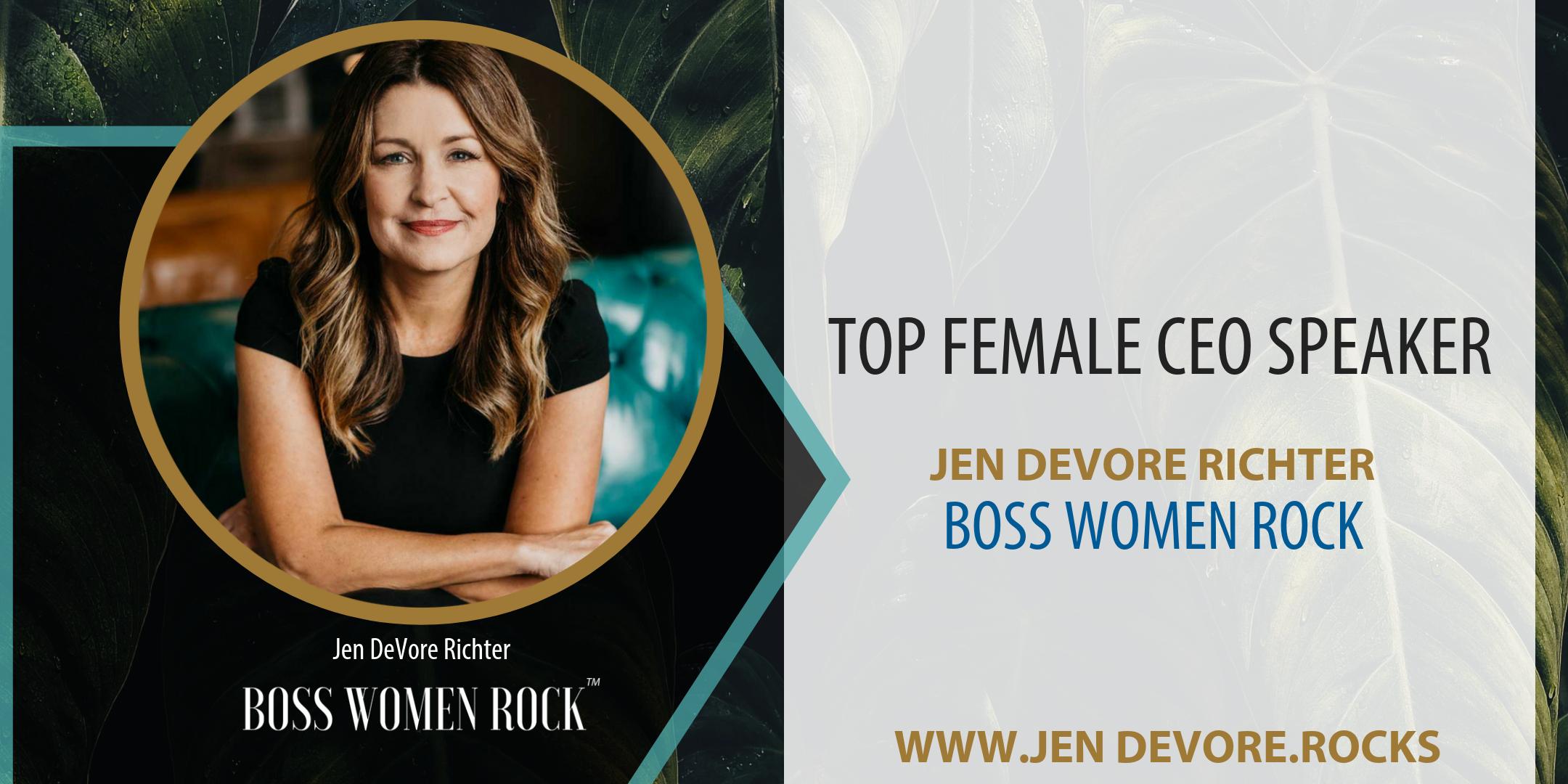 top female CEO speaker jen devore