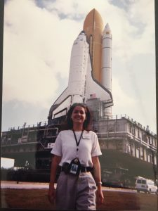 Jen DeVore with space shuttle